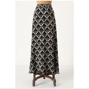Anthropologie Porridge Silk Maxi Skirt